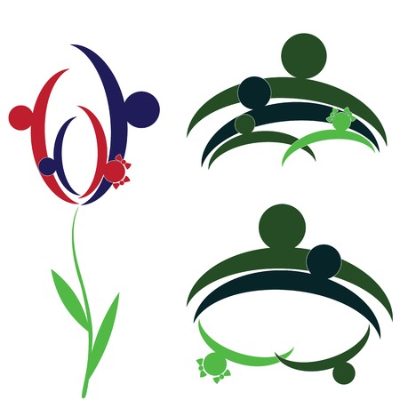 child care: Flower of the child in father family encouragement help  support moral  Life insurance Health care  People, social person  Illustration
