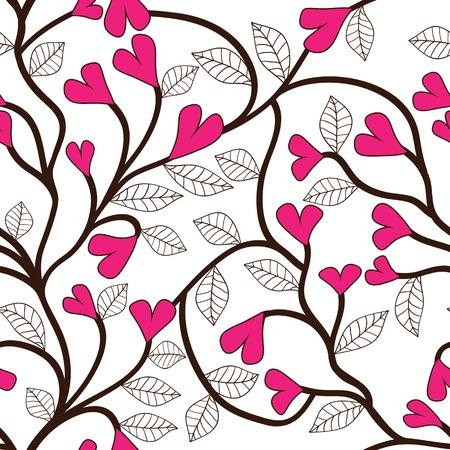 seamless texture: Herz Blume nahtlose Muster Floral nahtlose Textur