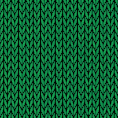 Handmade seamless knitted wool pattern  Abstract ornamental background of green vintage fabric embroidery illustration texture  Vector