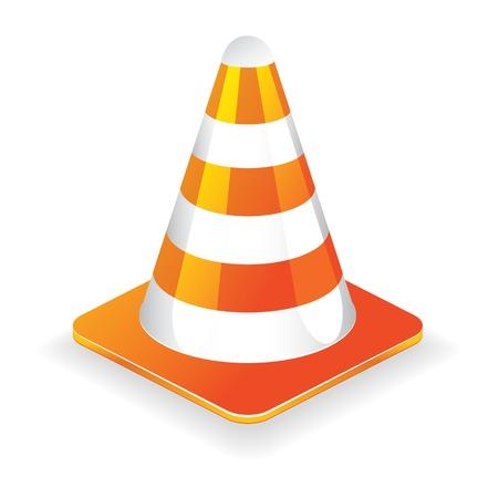 Traffic cone vector illustration icon, element for design