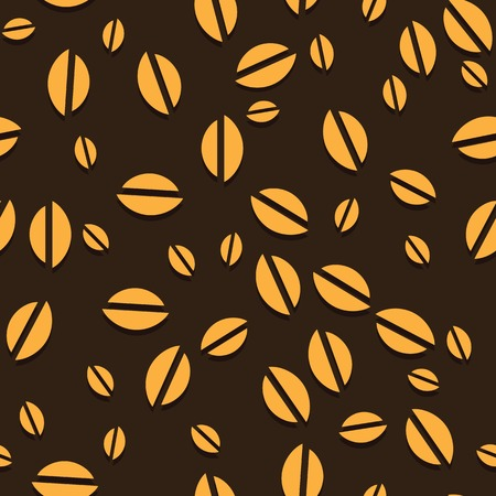 instant coffee: Coffee vector seamless beans background  Vector illustration