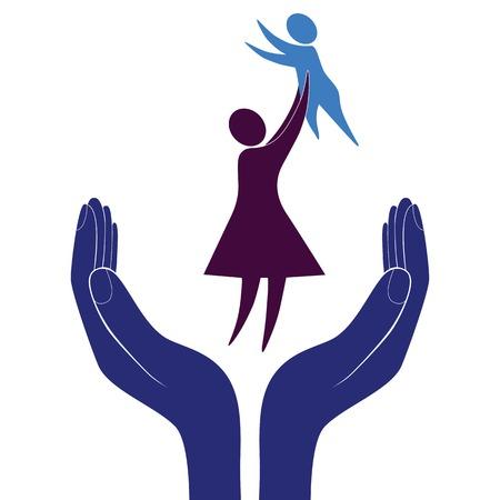 aide à la personne: la protection maternelle et infantile Illustration