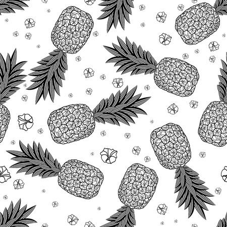 Pineapple seamless pattern.