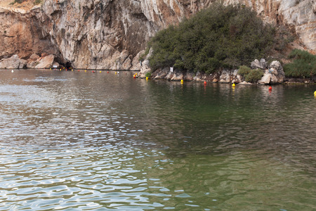 geophysical: Vouliagmeni, Thermal Radonic Mineral Water Lake near Athen, Greece. Just outside of Athens lies the geophysical rarity known as Lake Vouliagmeni.