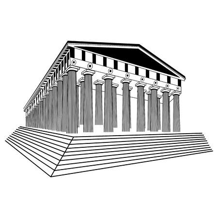 parthenon: Greece Parthenon sketch illustration