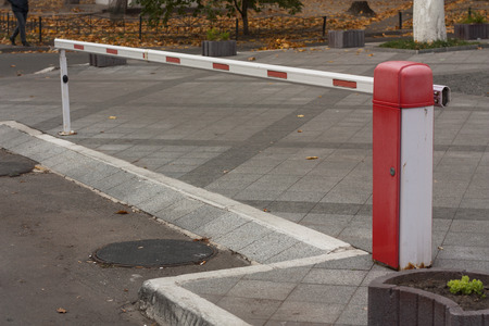 security barrier: Security barrier for parking vehicles photo Stock Photo