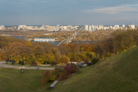 Railway bridge in Kiev, Ukraine photo photo