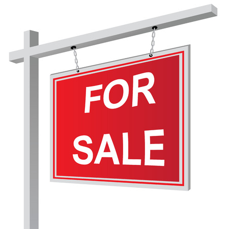 For sale sign vector illustration Çizim