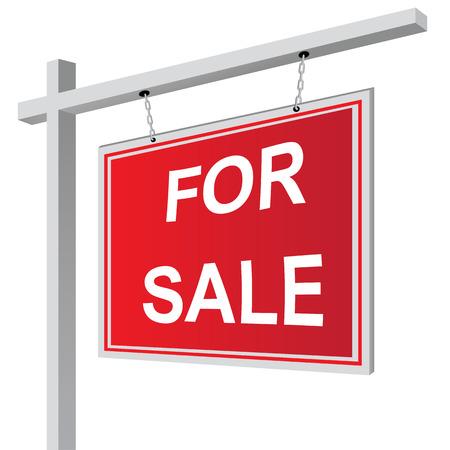 Pour signer la vente illustration vectorielle