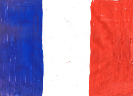 francais: National flag of France pencil drawing  illustration Stock Photo