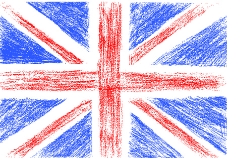 union: Flag of UK, pencil drawing vector illustration Illustration