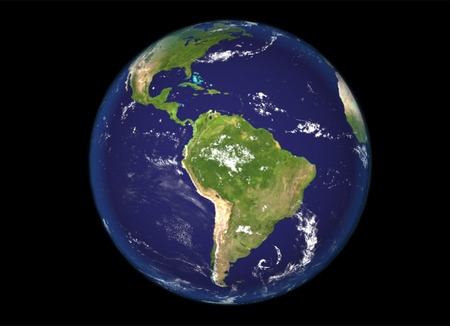 Globe north and south america illustration 3d  earth texture by NASA.gov