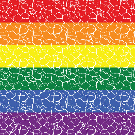 inequality: Gay pride flag with a  seamless tiled pattern in it vector