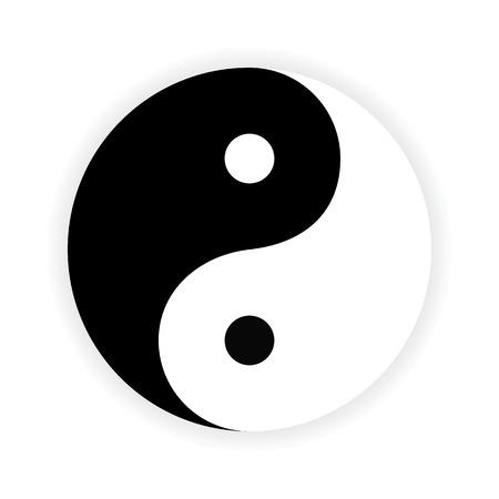 yinyang: Symbole du Yin Yang. Vector. Illustration