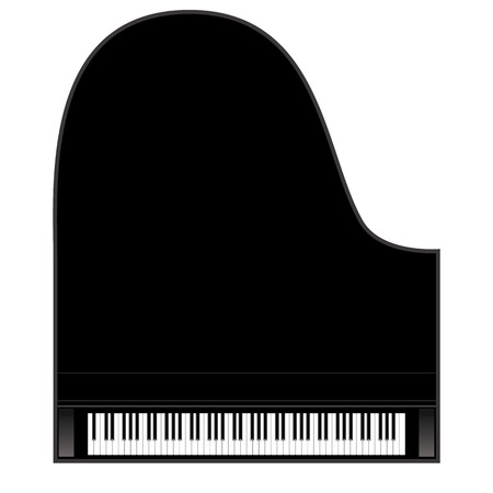 klawiatura: TÅ'o pianino, pianino kluczy. Ilustracja wektora. Ilustracja