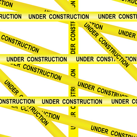 police line do not cross: Under construction caution tape entrance prohibited background seamless yellow warning caution ribbon tape on white background Illustration