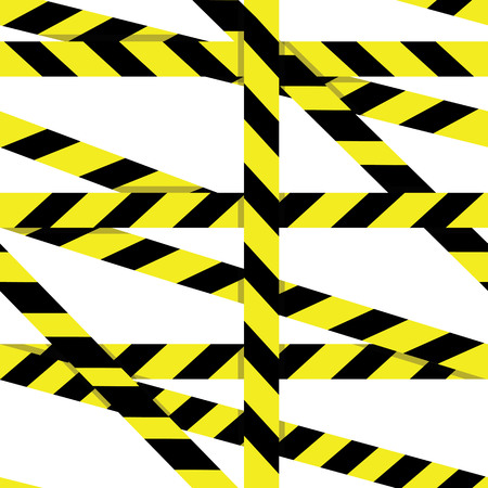 police line do not cross: seamless pattern: Entrance prohibited background seamless yellow warning caution ribbon tape on white background. Crime scene restricted zone.