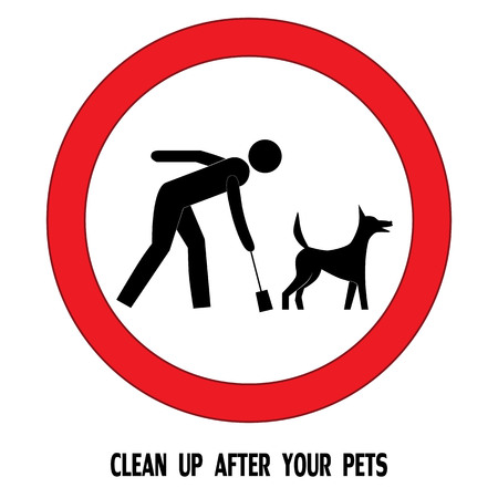 Clean up after your pet dog sign