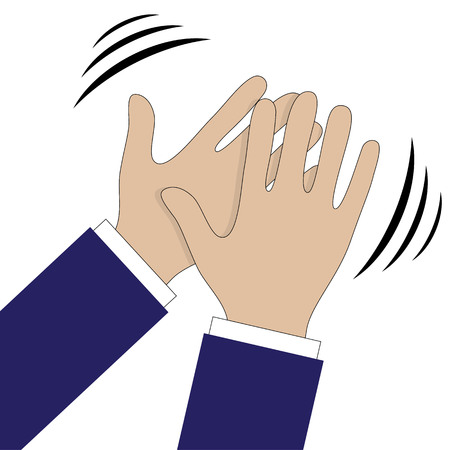 applauding: Hands clapping symbol. Vector icons for video, mobile apps, Web sites and print projects.