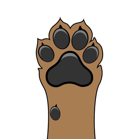 Paw hond omhoog huisdier vector