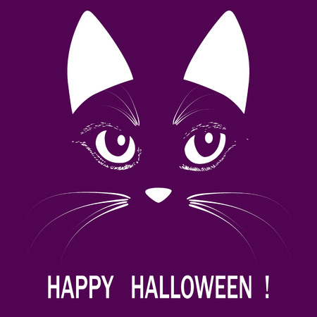 Cat head halloween animal  illuatration Illustration