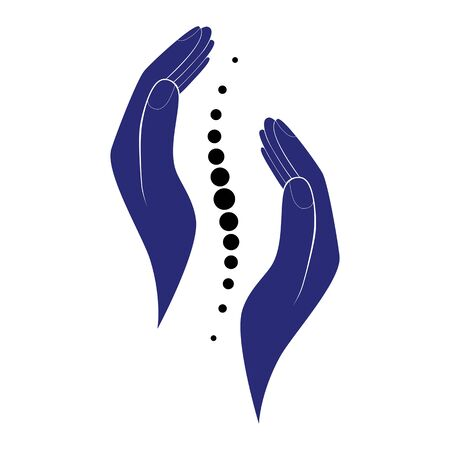 Chiropractic logo hand design.