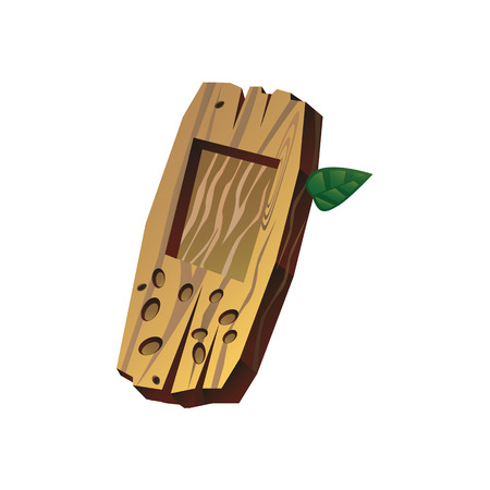 wooden cell phone, saver, background, illustration for gaming applications, web design, graphic design.