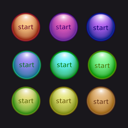 button set Illustration