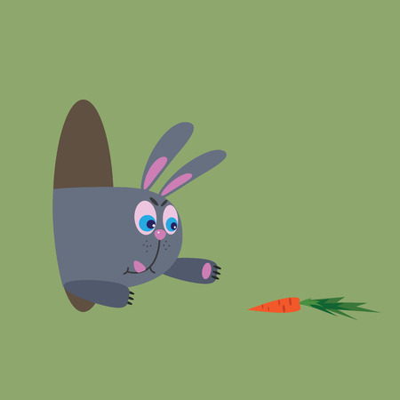 hungry: hungry rabbit, vector illustration Illustration