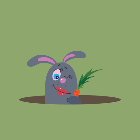 starve: hungry rabbit, vector illustration Illustration