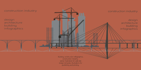 construction industry, infographics, vector, pattern, illustration Stock fotó - 65301440