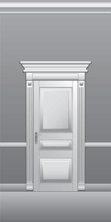 door casing: Door, architectural detail, vector illustration.