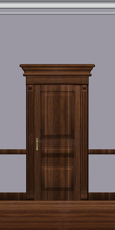 door casing: Door, architectural detail, illustration for projects of visualization and web design.