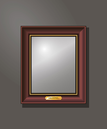 Empty, frame on the wall, editable, template,
