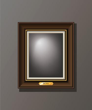 Blank, frame on the wall, editable, template, vector illustration Ilustrace