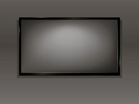 hdtv: TV, modern empty LCD screen, LED, plasma. Vector illustration.