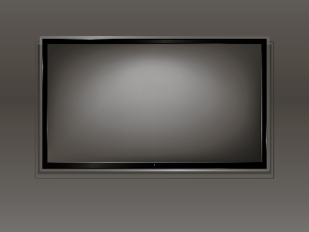 lcd: TV, modern empty LCD screen, LED, plasma. Vector illustration.