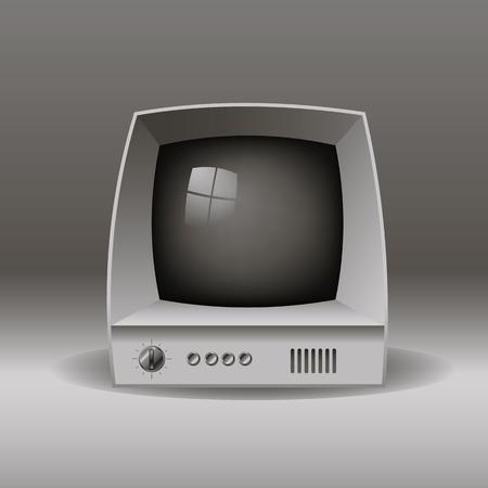 TV old, vector illustration.