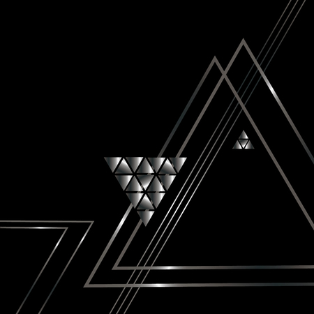 Silver triangle. Abstract pattern.