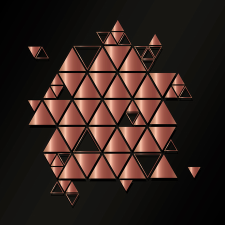 Abstract, geometric, vector pattern with triangles.