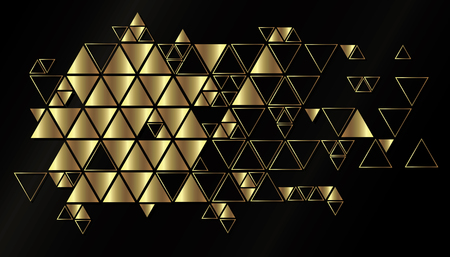Abstract geometric, vector background with triangles.