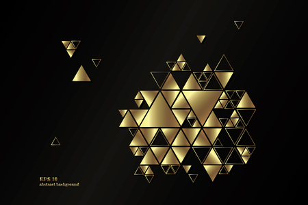 Geometric, abstract, golden, vector background with triangles. Stock fotó - 77602850