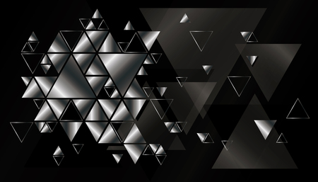 metal textures: Geometric, abstract, vector background with triangles. Illustration