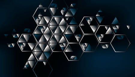 plate: Geometric, abstract, vector background with triangles. Illustration