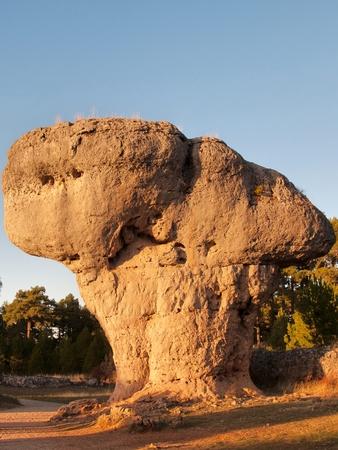 cuenca: Mushroom rock. Cuenca. Spain. Stock Photo