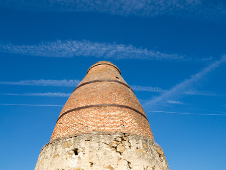 cement chimney: Old lime kiln