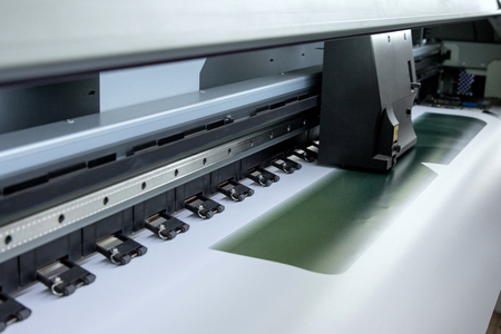 impresora: Impresora del cartel Foto de archivo