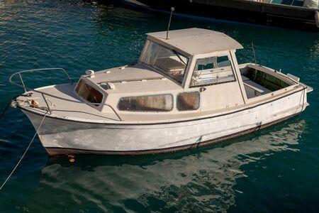 Boat at the marina Stock Photo