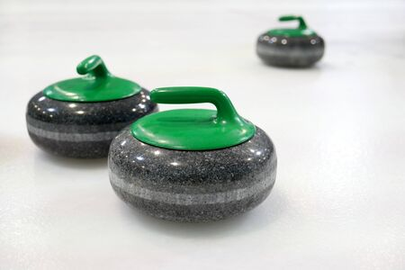Curling stones. Winter sports