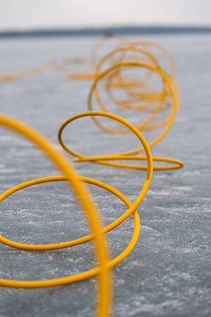 Wire on ice Foto de archivo
